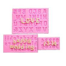 3pcs letter chocolate mold fondant cake English alphabet baking tool silicone fondant cake mold