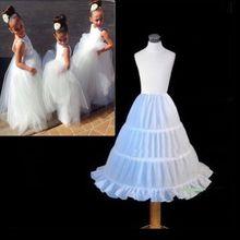 2017 In Stock Cheap One Hoop Flounced Petticoat Flower Girl Dress Wedding Accessories