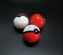 6ml pokeball shaped Poke mon Food Grade Silicone Ball Container Case Jar for Dab Oil Dry herb Wax Box