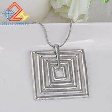 Hot Selling Fashion Geometric Square Pendant Clavicle Chain Free shipping
