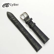 Cbcyber New watch bracelet belt black watchbands genuine leather strap watch band 16mm watch accessories wristband