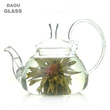 Clear Pyrex glass teapot, Design to prevent the lid from falling off,blooming tea , flower teapot, 250ml 600ml 1200ml