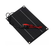 6W 18V Semi-Flexible Solar Panel DC Female Output Solar Cell with Alligator Clip for Battery Charging and Solar System Test