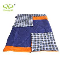 Outdoor sleeping bags can be split Flannel lining hiking double sleeping bag