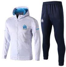 Best Thai Quality Survetement football Maillot de Foot om Olympique de Marseille hoodie Florian Thauvin equipment soccer Tracksuit hoody