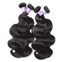 Brazilian Remy Human Hair Extension Body Wave deep wave Bundles afro kinky curly loose wave Hair straight Weave Natural black Color