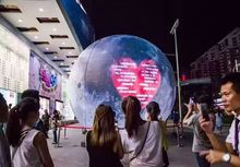 (specialty store) inflatable moon ball Artificial moon simulation moon included LED, air pump, use for Big Party,festival celebra