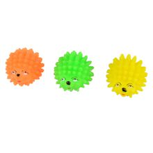 Outdoor Colored Sun Ball Pet Toys Cute Hedgehog Shape Rubber Bite Resistant Molar Decompression Chew Portable