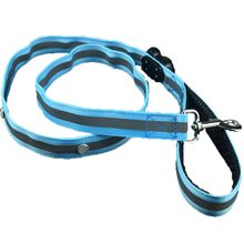 Glow LED Flashing Light Climbing Safety Rope Dog Leash with Soft Handle Nylon Heavy Duty Walking Dog