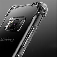 For Samsung Galaxy S9 S8 Plus S7 Edge Note 8 A3 A5 A7 A8 J3 J5 J7 2016 2017 2018 Air Cushion Case Crystal TPU Bumper Gel Cover iphone x 8 7