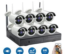 insoer 8 Channel CCTV Security Recording System Outdoor Wireless Security Camera Security Equipment