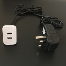 Rectangular Dual Charging USB2.0 Ports Embedded for Furniture Desktop Double USB Outlet Extension Cable Mounted in Sofa Surface-Mounting Hub