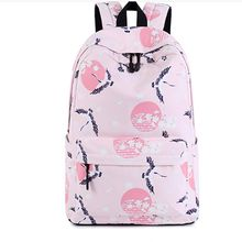 2018 summer new Korean version of the Sen printing polyester waterproof female middle school student portable casual backpack