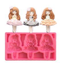 New beautiful girl silicone fondant mold DIY baking tool chocolate mold cake decoration mold