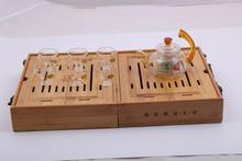 Bamboo gift box Tea set Multifunctional tea tray tea sea Tea set Business gift