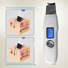 Hot Sell Deeply Ultrasonic Face Pore Skin Scrubber Cleaner Beauty Device Ultrasound Vibration Facial Cleansing Peeling