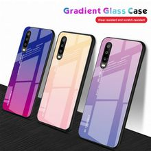 Gradient Tempered Glass phone cases hard case for Huawei P30 Y9 Y6 pro prime lite honor 10i 20i 8A enjoy 9 9S 9E