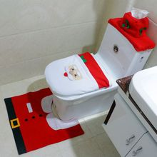 christmas decorations santa claus toilet seat cover