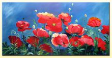 oil painting on canvas modern flower blossom 100% handmade original directly from artist YP6 Art handmade abstract