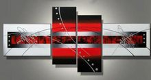 Free shipping MODERN ABSTRACT CANVAS ART OIL PAINTING Guaranteed decoration oil painting new arrival 4 panels abstract P12312