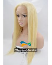 Wholesale Instock Premium Brazilian Virgin Hair 613# Blonde Silk Top Glueless Full lace Wigs 150% Density 26 inch Blonde Lace Front Wigs