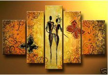 Butter fly lover story MODERN ABSTRACT CANVAS ART OIL PAINTING wall decoration oil painting new arrival P68123