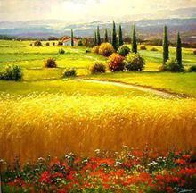 Landscape-oil-painting-Tuscan-Landscape-Hot-Contemporary-Art-Hand-painted-canvas-art-Tuscan-007