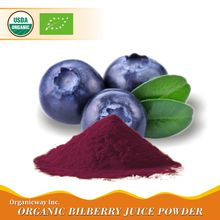 NOP EU Certified organic bilberry juice powder