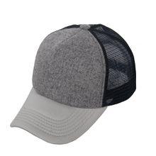 3 Color Unisex Fashion Plain Baseball Cap Trucker Mesh Hat Blank Adjustable Snapback 5 Panel Foam Adult Cap Curved Bill On sale