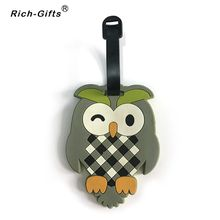 Customized Promotional cartoon soft rubber Travel Luggage Tags(RL-003)