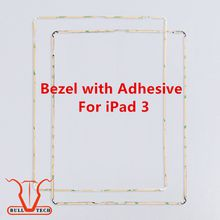 Original New Plastic Mid Frame Middle Bezel with 3M Adhesive Glue Black White For Apple iPad 3 frame bezel Replacement