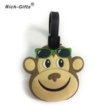 Custom Monkey LOGO Promotion Souvenir Gifts Eco- Friendly PVC Traver Luggage Tags Accessories Name Label(RL-082)