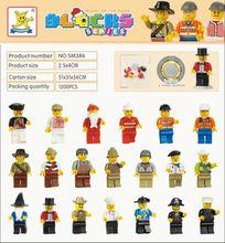 20pcs/lot City Military Police Mini Building Blocks Toy Set Bricks Toys Compatible with City Technic