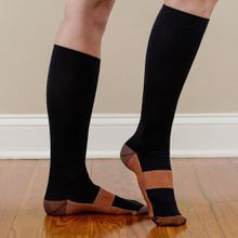 Anti biosis deodorize leg slimming hot selling high quality overknee high miracle copper sock unisex sports compression sock.