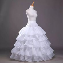 Free Shipping In stock Four Hoops Five Layers A-Line Petticoats Slip Bridal Crinoline For Ball Gowns Quinceanera/Wedding/Prom Dresses