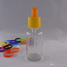 30ml clear boston round glass dropper bottle with glass pipette 30 ml e liquid bottle with childproof cap essential oil bottle