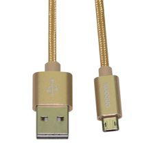 Micro USB Cable Nylon Braieded 1M2A USB2.0 Data Cable Metal Housing Durable Tinning High Speed Charging USB Cord for Android Smart Phone
