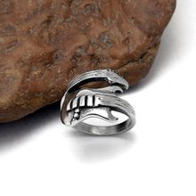 Men's and Women Guitar Shape Stainless steel Rings Rock Music 316L Titanium Rings Jewelry Accessories