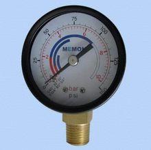 Diaphragm gas low pressure gauge
