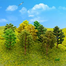 Realistic model railroad trees for Z N HO OO O scale/gauge height Range from 60mm-140mm