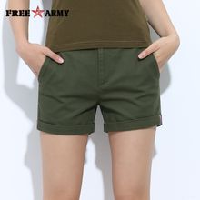 FREEARMY Mini Women's Sexy Short Shorts Summer Slim Hot Casual Shorts Girls Military Cotton Shorts Four-Color Plus Size Female GK-9311