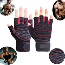 Sports Gym Gloves Wrist Weights Fitness Men Gloves Half Finger Breathable Anti-skid Women Gloves