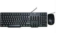 Logitech (Logitech) MK100 2 generation classic keyboard or mouse and keyboard suit suit, black