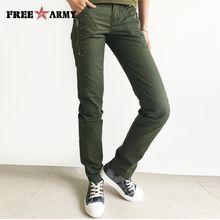 FreeArmy Brand Winter Women Pants Cotton Straight Slim Military Camo Pants Casual Camouflage Pants & Capris Outdoors Gk-9522A/B