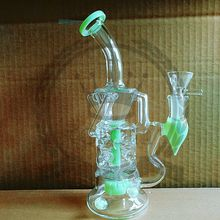 Corona Glass Bong Recycler Oil Rigs Water Bong Big Heady Burner Quartz Banger Beaker Cheap Colorful Bongs Recycler Bubbler 14mm Glass Bowl