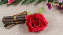 Silk flowers wholesale rose heads artificial flowers 4.3inch diameter fake flowers head high quality WF001