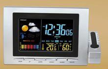 Colorful Digital Thermometer Barometer Weather Station Desk Mantel Shelf Clocks