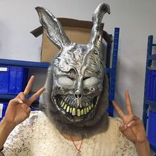 Funny Halloween Donnie Darko FRANK the Bunny Rabbit MASK Latex Overhead with Fur Adult Costume Animal Masks For Party Cosplay