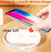 2018 Best Goophone X Wireless Charger Face ID 4G LTE Octa Core 256GB ROM MTK6735 12 MP Dual Camera Glass back Unlocked Smartphon
