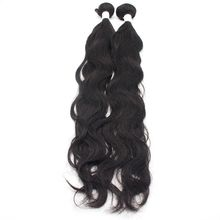 Unprocessed Natural Wave Brazilian Human Hair Wave, No Tangle Cuticle Aligned Double Weft Human Hair Extension